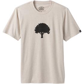 Prana Tree Hugger Journeyman Camiseta Manga Corta Hombre, beige